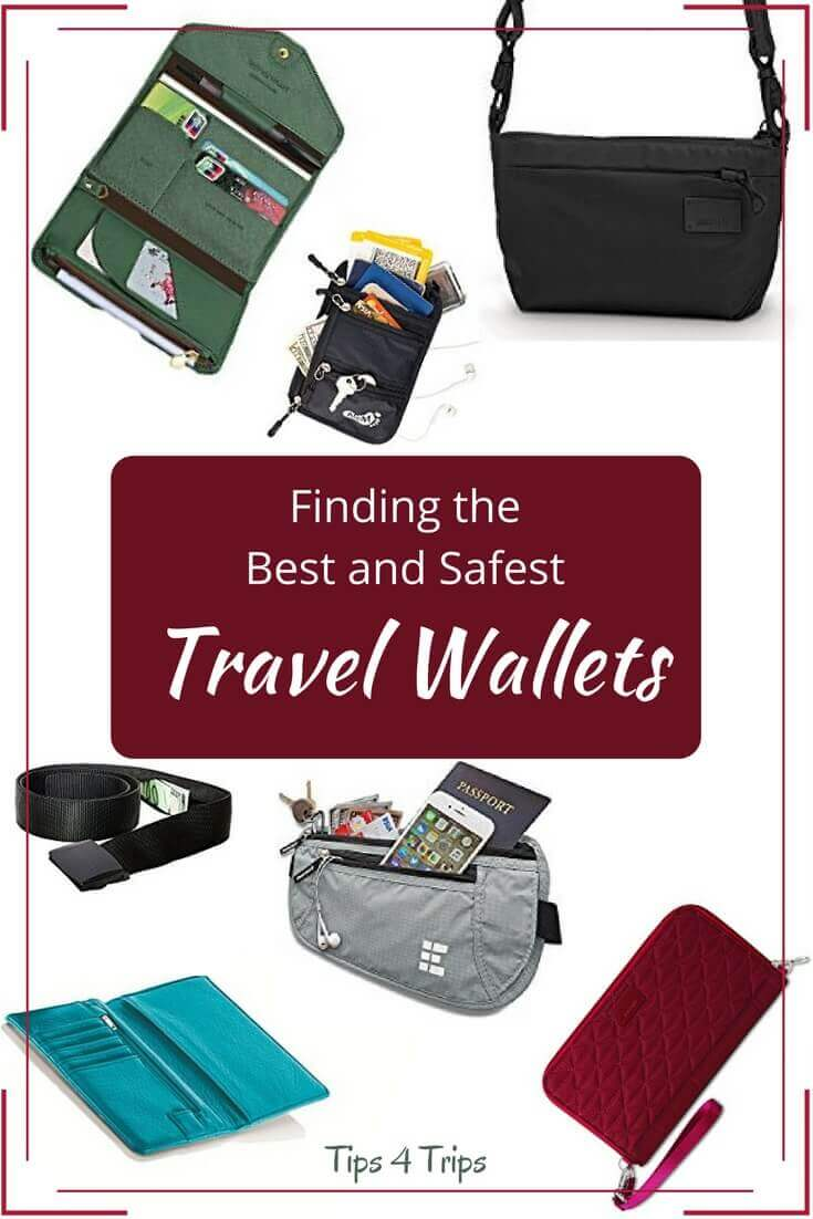 A choice of travel wallet, money belts, belts and travel bags for safe trips