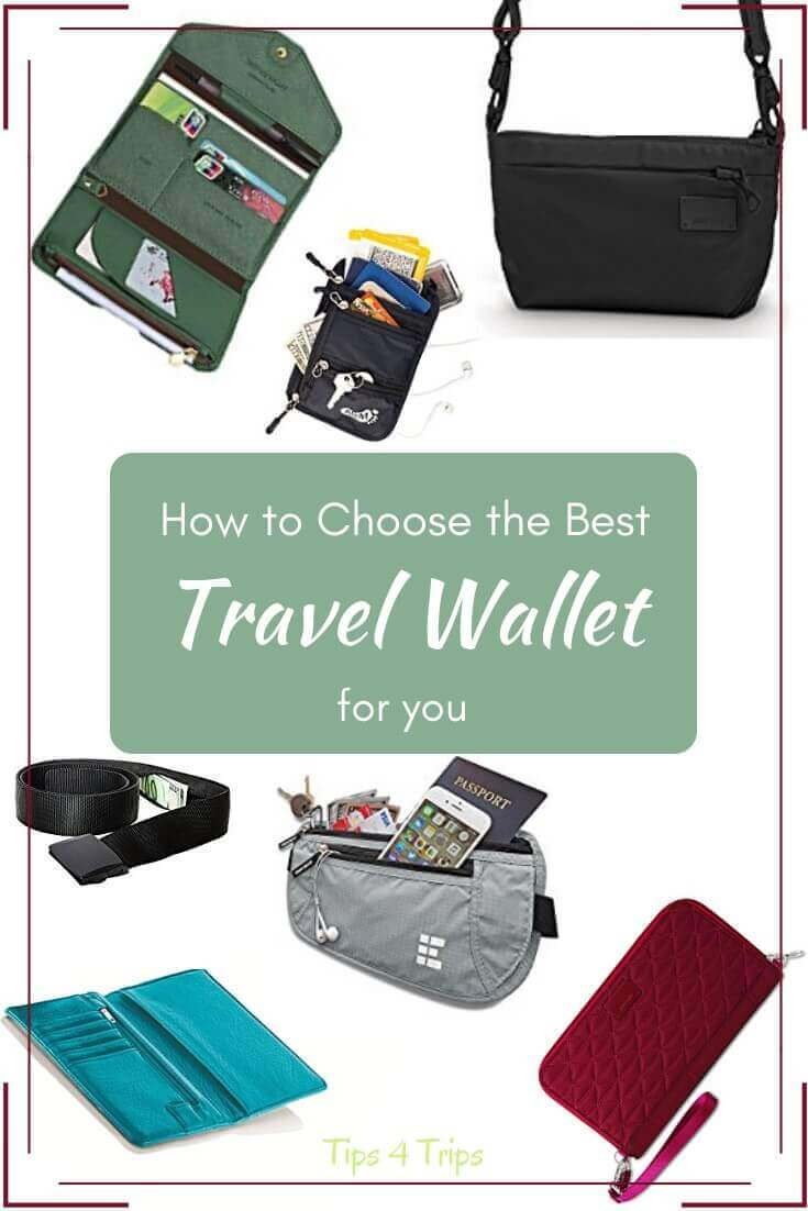 Choose from these safe travel wallets including money belt, clutch purse, crossover bag for your next trip