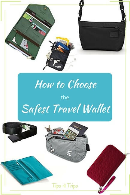 Options for finding the best and safest travel wallet for your holiday. Travel tips to keep your holiday money safe and easy to access when on day trips or vacation.