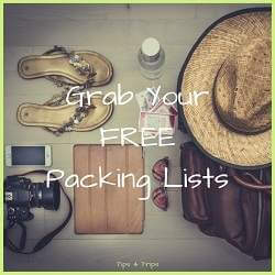 get free travel packing lists and checklists for your next trip and don't forget a thing.