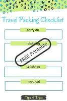 Get travel packing checklists free to download and print