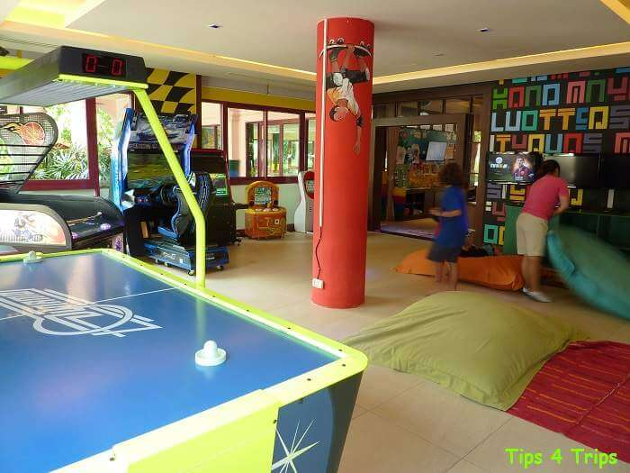 The tween and teen E-Zone kids club at the Centara Grand Hotel in Karon
