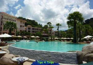 The main pool at the Centara Grand Beach Resort Phuket