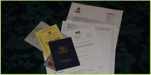 A list of international travel documents to pack