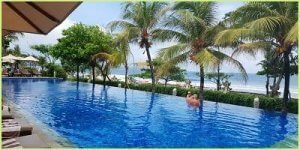 The infinity pool at Padam Resort Legian reviews